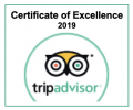 Tripadvisor Certificate of Excellence 2019! English